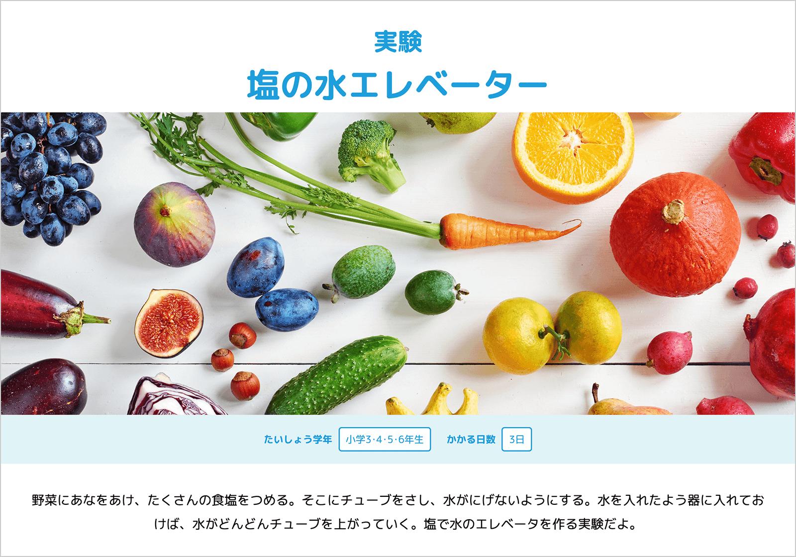 学研キッズネット「夏休み!自由研究プロジェクト」自由研究テーマ・実験