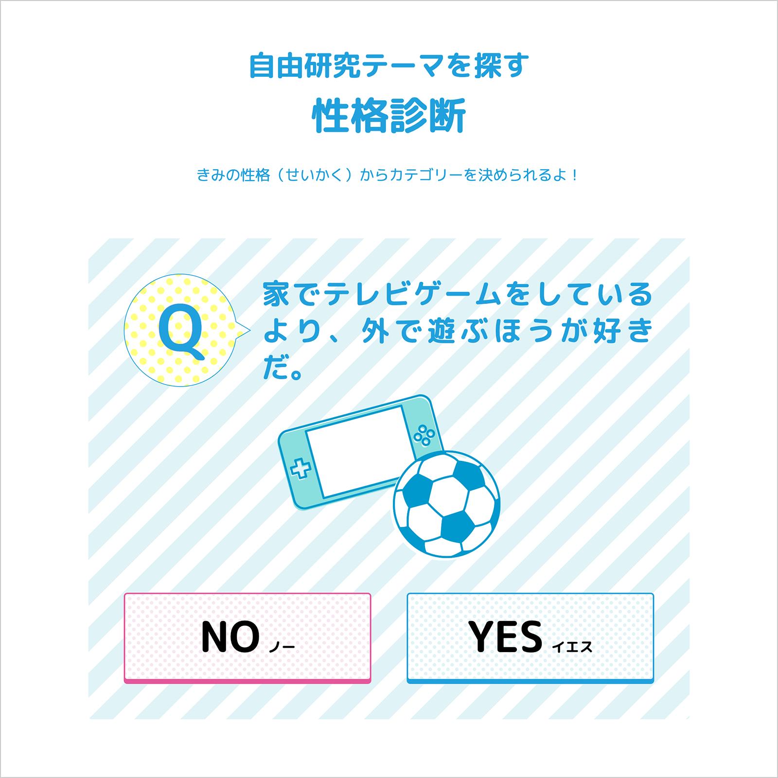 学研キッズネット「夏休み!自由研究プロジェクト」性格診断